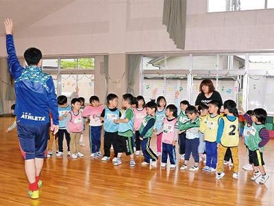 岩手県サッカー協会によるサッカー教室